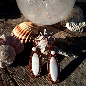 Boucles d'Oreille en Nacre - boutiquecarioca.com