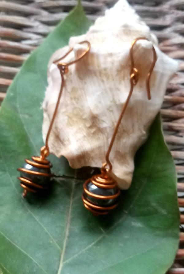 boucles d'oreilles en hématite et cuivre-boutiquecarioca.com