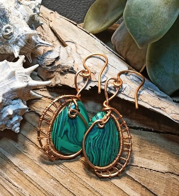 boucles d'oreille en Malachite- boutiquecarioca.com